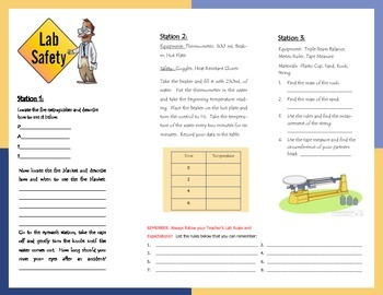 Safety and Lab Equipment Travel Brochure