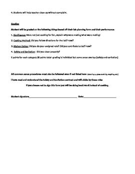 Safety and Sanitation Lab Contract