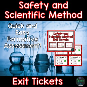 Safety and Scientific Method Exit Tickets (Exit Slips)
