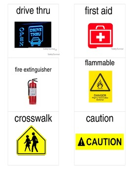 Safety and Survival Word Flashcards with Pictures