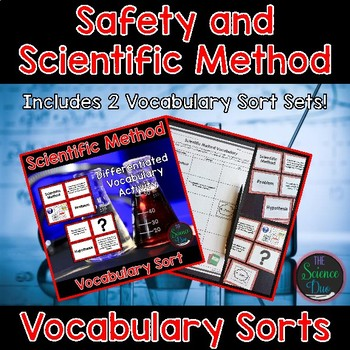 Safety and the Scientific Method Vocabulary Sort Sets
