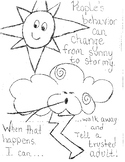 Safety coloring page to go with Think First curriculum...