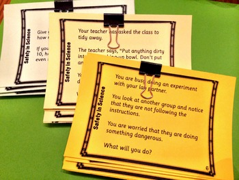 Safety in Science task cards