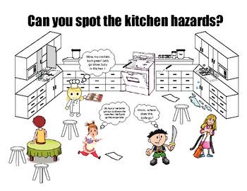 Safety in the Kitchen Cartoon by MsPowerPoint   Teachers Pay Teachers