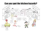 Safety in the Kitchen Cartoon