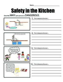 safety in the kitchen common safety scenarios by mspowerpoint tpt. Black Bedroom Furniture Sets. Home Design Ideas