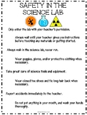 Safety in the Science Lab Poster or Interactive Journal Notes