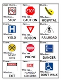"""Safety/Survival Sign """"I Have...Who Has"""""""