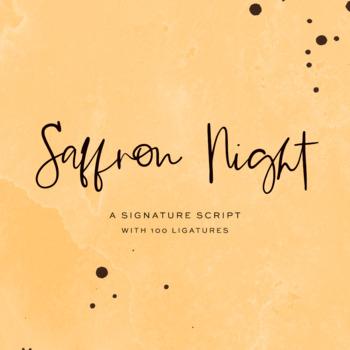 Saffron Night Signature Script