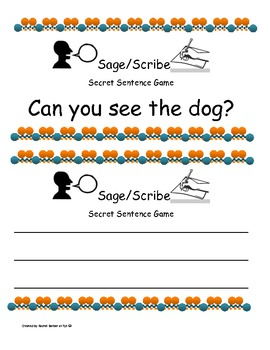 Sage and Scribe Cooperative Learning Communication and Writing Activity