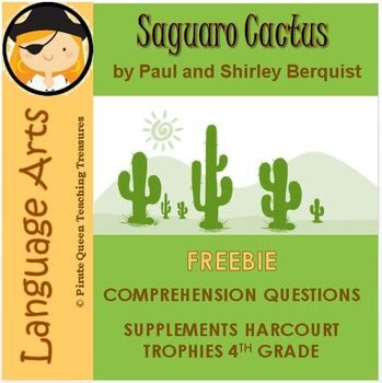 Saguaro Cactus Comprehension Activity/Common Core Aligned