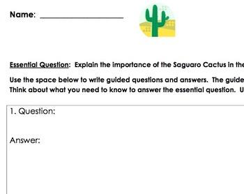 Saguaro Cactus / Desert Biome Inquiry
