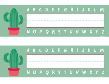 Saguaro Cactus Name Plates