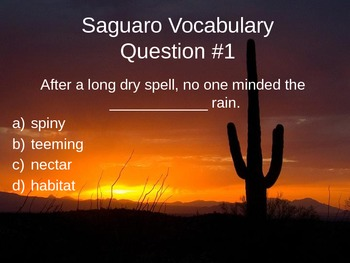 Saguaro Test Review Powerpoint