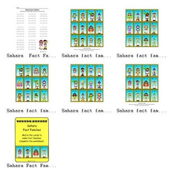 Sahara Fact Families (Multiplication/ Division)