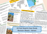 Sahara, Hot Deserts, A3 Double Sided Revision Sheet.