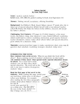 Sahara Special guided reading plan