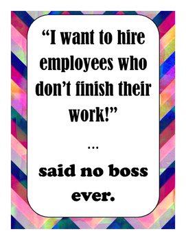 Said No Boss Ever Poster