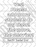 Said No Teacher Ever Coloring Page - Merrier