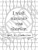 Said No Teacher Ever Coloring Page - Summer