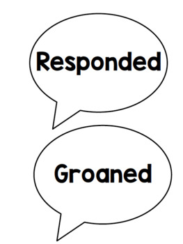 #AUSBTS18 Said Synonym Speech bubbles {40 synonyms to display} 2 Versions