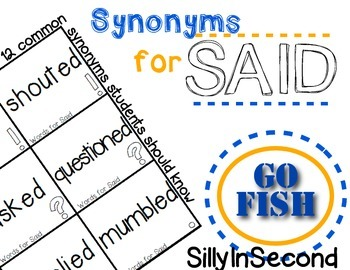 Said Synonyms - Go Fish