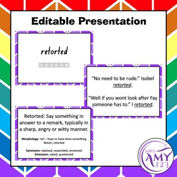 Said Vocabulary Pack- Word Lists, Flash Cards & Activities