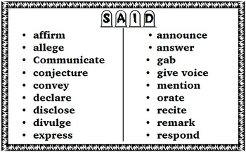 """""""Said is Dead"""" 20 overused words in writing and synonym replacements!"""