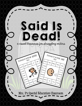 Said is Dead! A Visual Thesaurus for Struggling Writers