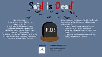 Said is Dead - Matching Activity