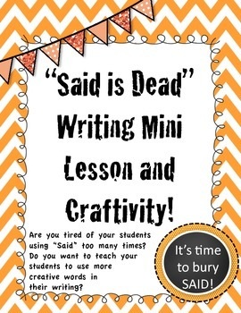 Said is Dead Mini Lesson and Craftivity