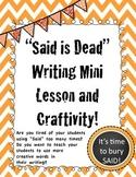 Said is Dead Mini Lesson and Craftivity