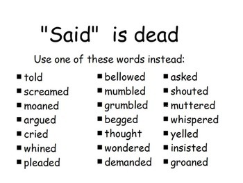 """Said"" is Dead  Mini Thesaurus"