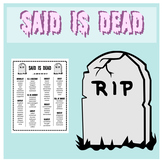 Said is Dead - synonyms for said
