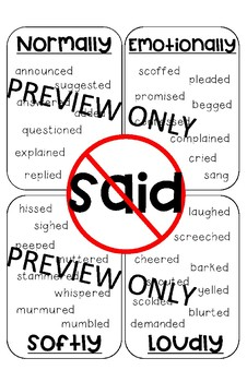 Said is dead/Instead of said poster
