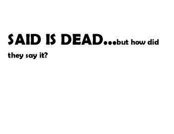 Said is dead  cards