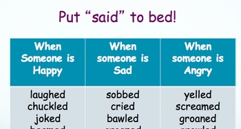 Said to Bed Powerpoint