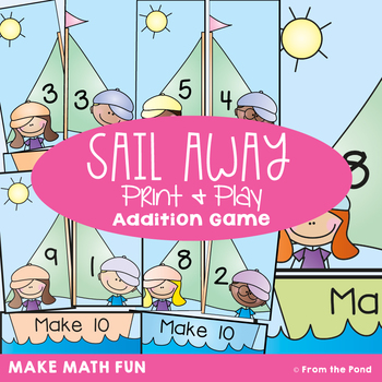 Addition - Sail Along - Printable Math Card Game / Center