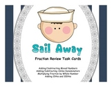 Sail Away- 4th Grade Fraction Mixed Review Task Cards