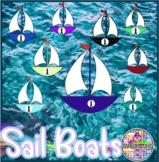 Sail boats Ship at Sea Summer clip art