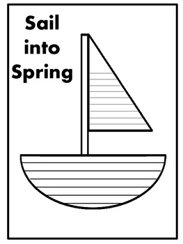 Sail into Spring Writing Page
