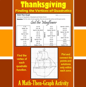 Sail the Mayflower - A Math-Then-Graph Activity - Finding Vertices