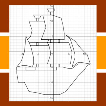 Sail the Mayflower - A Thanksgiving Math-Then-Graph Activity - Solve 2-Step Eqs.