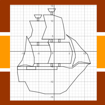Thanksgiving - Sail The Mayflower - A Coordinate Graphing Activity