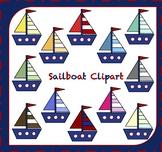 Sailboat Clipart / Boat Clipart / Transportation Clipart