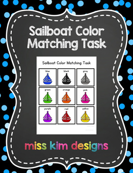 Sailboat Color Match Folder Game for Early Childhood Special Education