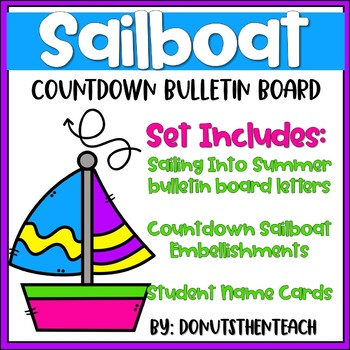 Sailboat Countdown Bulletin Board