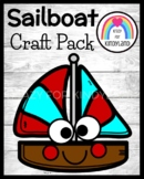 Sailboat Craft Activity for Summer, Beach Morning Work, Ce