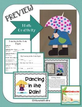 Dancing in the Rain Glyph-A Spring Math Craftivity