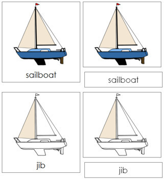 Sailboat Nomenclature Cards